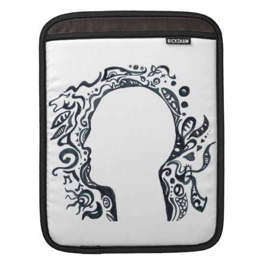 Tribal design silhouette head sleeve for iPads