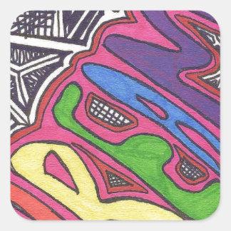 Tribal Design Square Sticker
