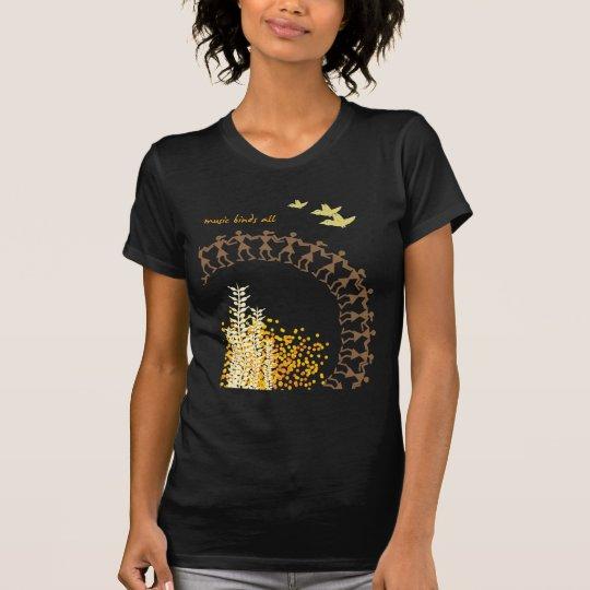 Tribal Design T-Shirt - Black