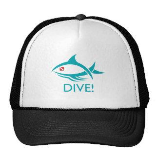 Tribal Dive Fish Mesh Hat