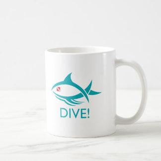 Tribal Dive Fish Mugs