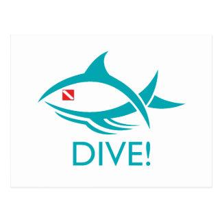 Tribal Dive Fish Postcard