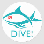 Tribal Dive Fish Stickers