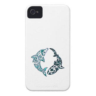 Tribal Dolphin and Shark Tattoo Case-Mate Blackberry Case