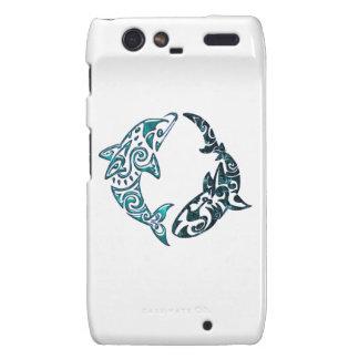 Tribal Dolphin and Shark Tattoo Motorola Droid RAZR Covers