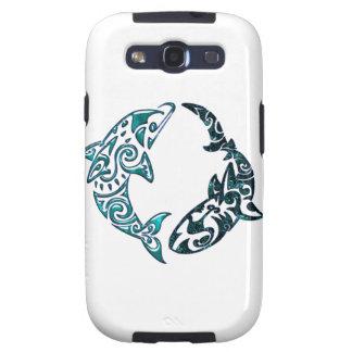 Tribal Dolphin and Shark Tattoo Samsung Galaxy S3 Cases
