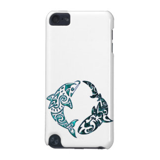 Tribal Dolphin and Shark Tattoo iPod Touch (5th Generation) Cover