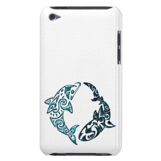 Tribal Dolphin and Shark Tattoo iPod Case-Mate Case