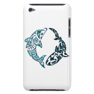 Tribal Dolphin and Shark Tattoo iPod Case-Mate Cases