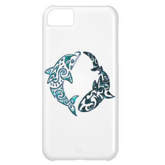 Tribal Dolphin and Shark Tattoo Case For iPhone 5C