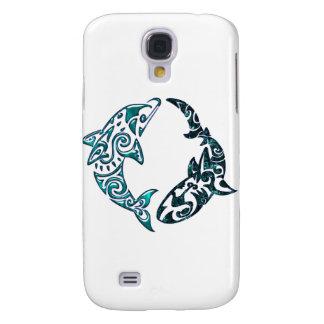 Tribal Dolphin and Shark Tattoo HTC Vivid Covers