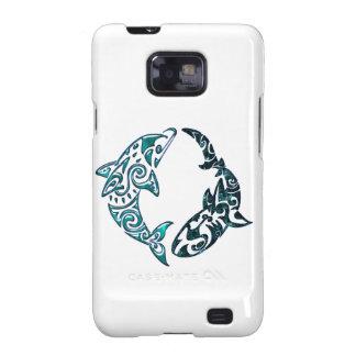 Tribal Dolphin and Shark Tattoo Samsung Galaxy S2 Cover