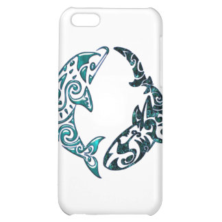 Tribal Dolphin and Shark Tattoo iPhone 5C Cover