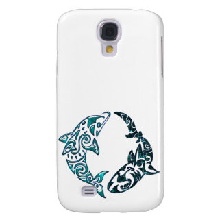 Tribal Dolphin and Shark Too Galaxy S4 Covers