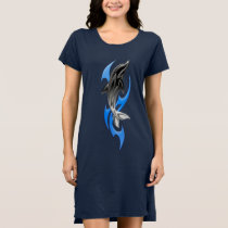 Tribal Dolphin Dark T-Shirt Dress