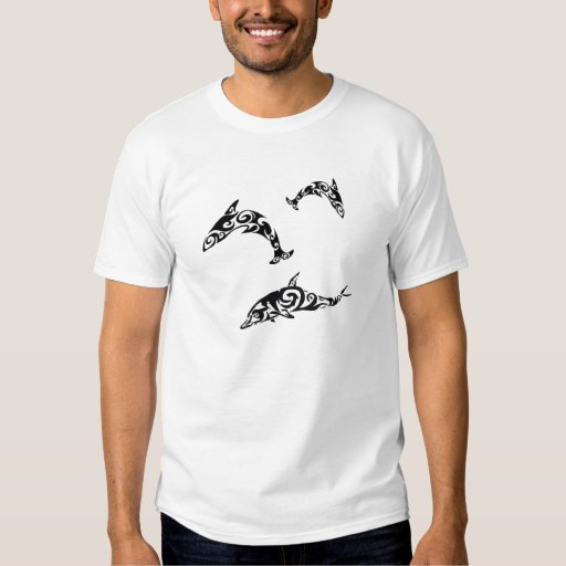 Tribal Dolphin Sealife.png T-shirts