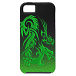 Tribal Dragon 2 green iPhone 5 Covers