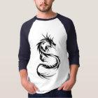 Tribal Dragon 3/4 Long Sleeve Raglan T Shirt