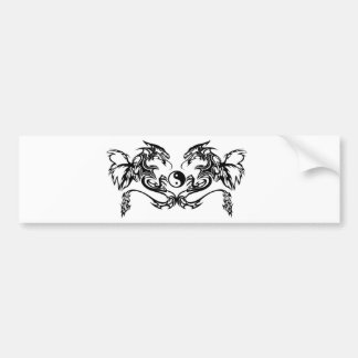 Tribal dragon bumper sticker