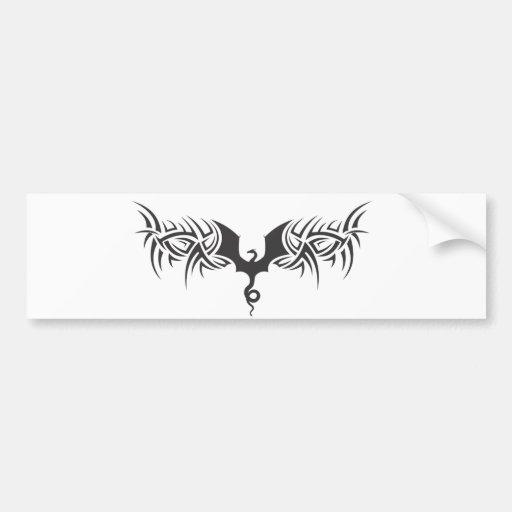 tribal dragon bumper stickers