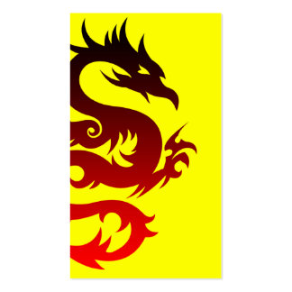 tribal dragon Double-Sided standard business cards (Pack of 100)