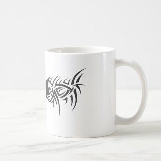 tribal dragon classic white coffee mug