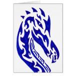 Tribal Dragon Head Card