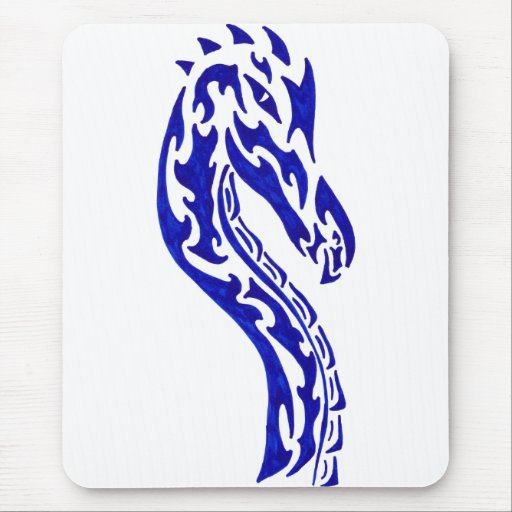 Tribal Dragon Head Mouse Pads