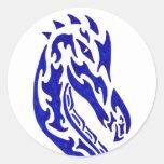 Tribal Dragon Head Sticker