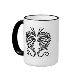 Tribal Dragon Heart Art Mug