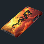 "Tribal Dragon in Flames iPod Case-Mate Case<br><div class=""desc"">Personalized tribal dragon phone cases.</div>"