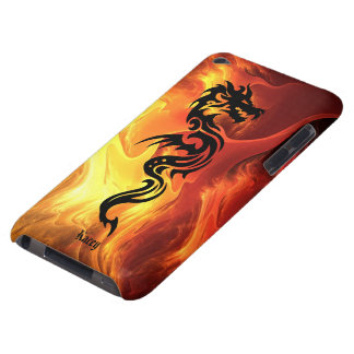 Tribal Dragon in Flames iPod Case-Mate Case