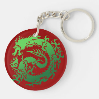 Tribal dragon keychain