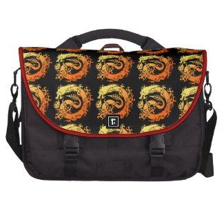 Tribal dragon laptop computer bag