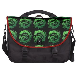 Tribal dragon laptop messenger bag