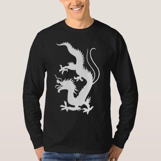 Tribal Dragon Long Sleeve Dark T-shirt