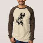 Tribal Dragon Long Sleeve Raglan T Shirts