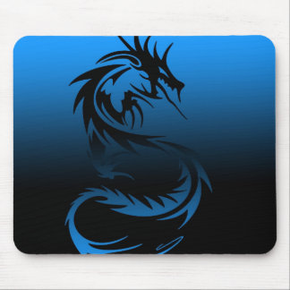 tribal dragon mouse pad