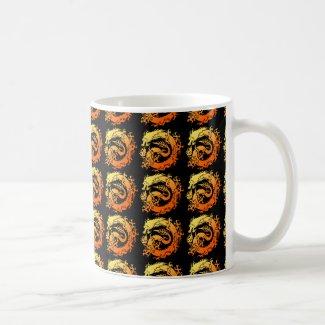 Tribal dragon mug