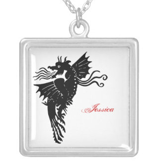 Tribal Dragon Personalized Necklace
