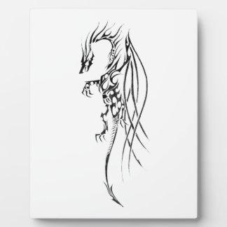 Tribal dragon display plaques