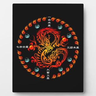 Tribal Dragon Display Plaque