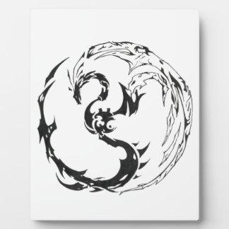 tribal dragon plaque