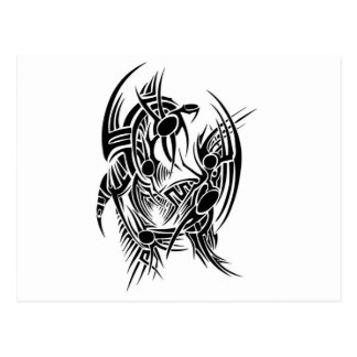 Tribal dragon postcard