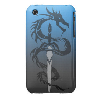 tribal dragon sword case Case-Mate iPhone 3 case