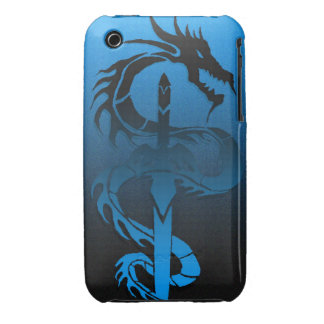 tribal dragon sword case iPhone 3 case