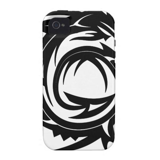 Tribal Dragon Tattoo iPhone 4 Cases