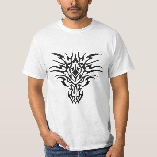 Tribal dragon tattoo style cool t shirt zazzle for Tribal tattoo shirt