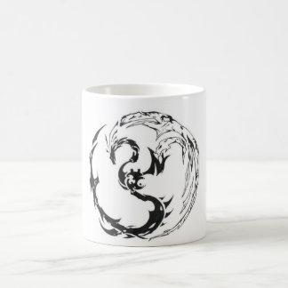 tribal dragón taza de café