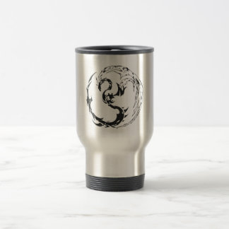 tribal dragón taza de viaje
